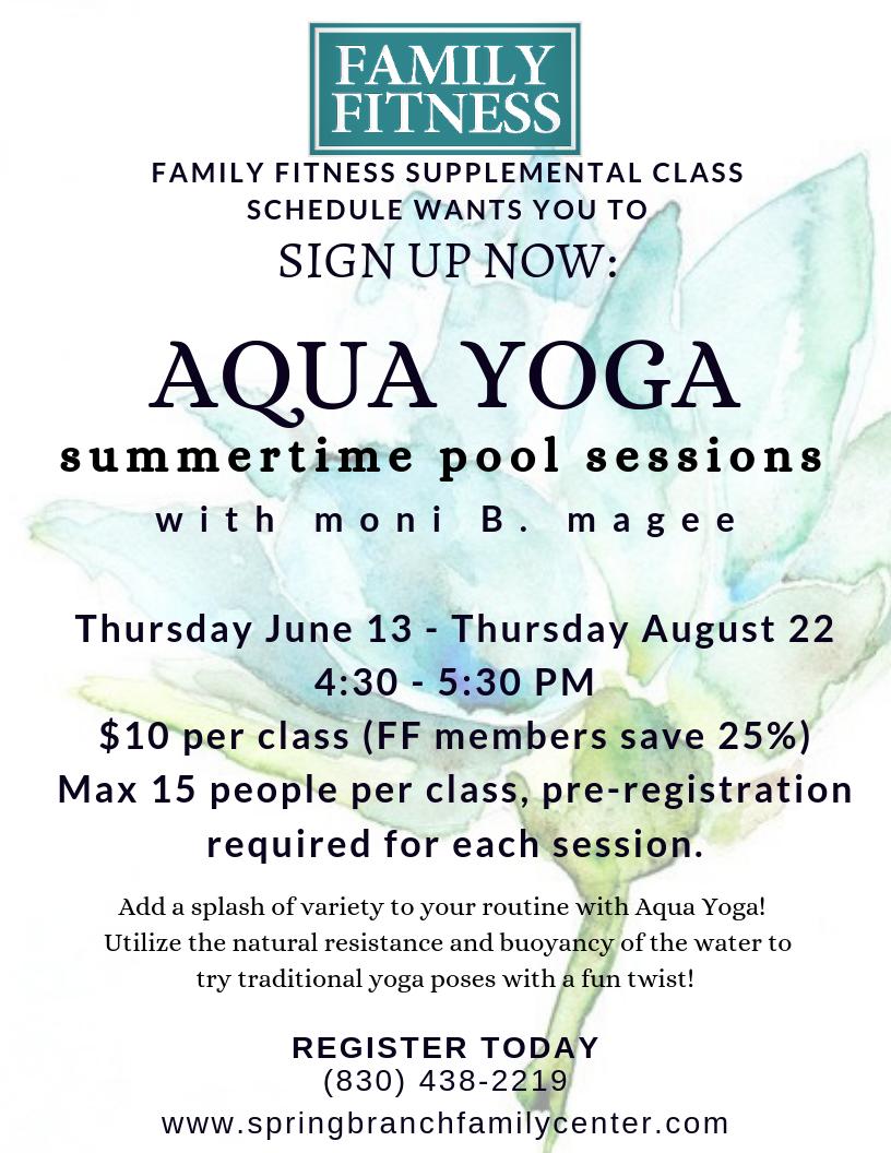 Aqua Yoga!  Spring Branch Family Center